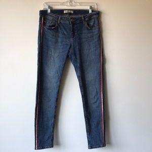Zara Jeans With Stripe Detail